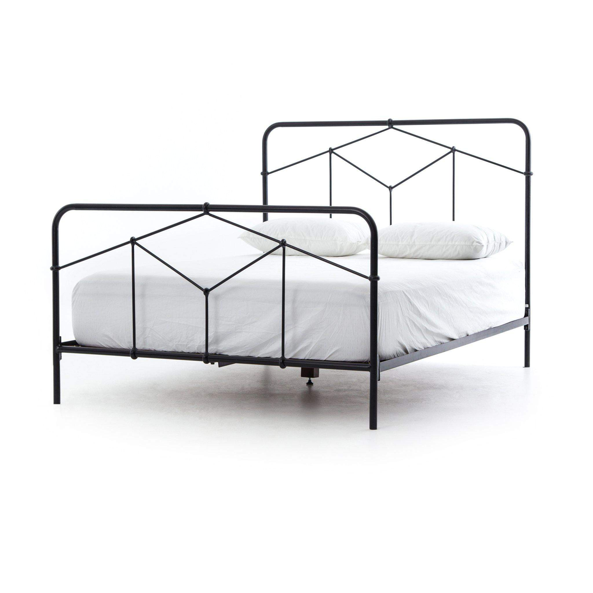 Casey Iron Metal Bed (Black) Twin, Queen, & King - Parker Gwen