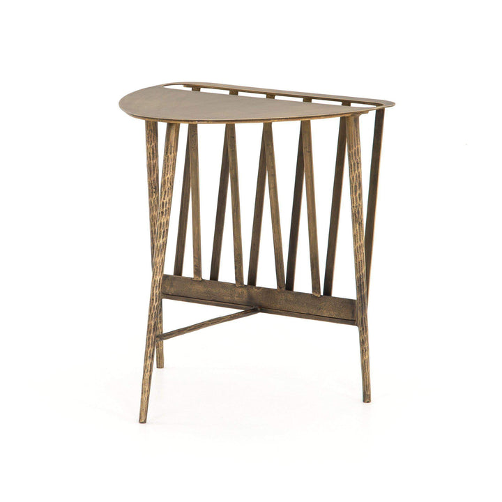 Harrell Element Magazine End Table (Aged Brass) - Parker Gwen