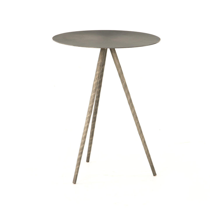 Sunburst Element End Table (Antique Nickel) | Side Table | parker-gwen