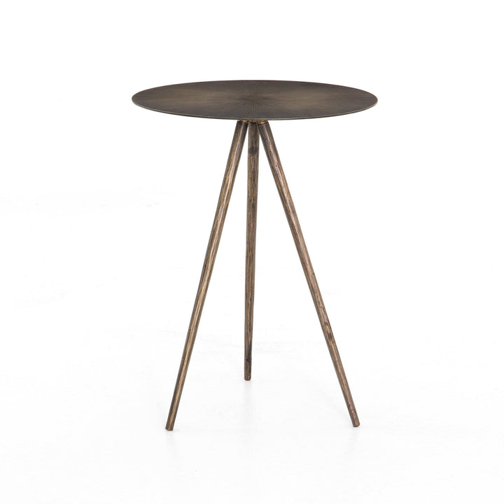 Sunburst Element End Table (Aged Brass) | Side Table | parker-gwen