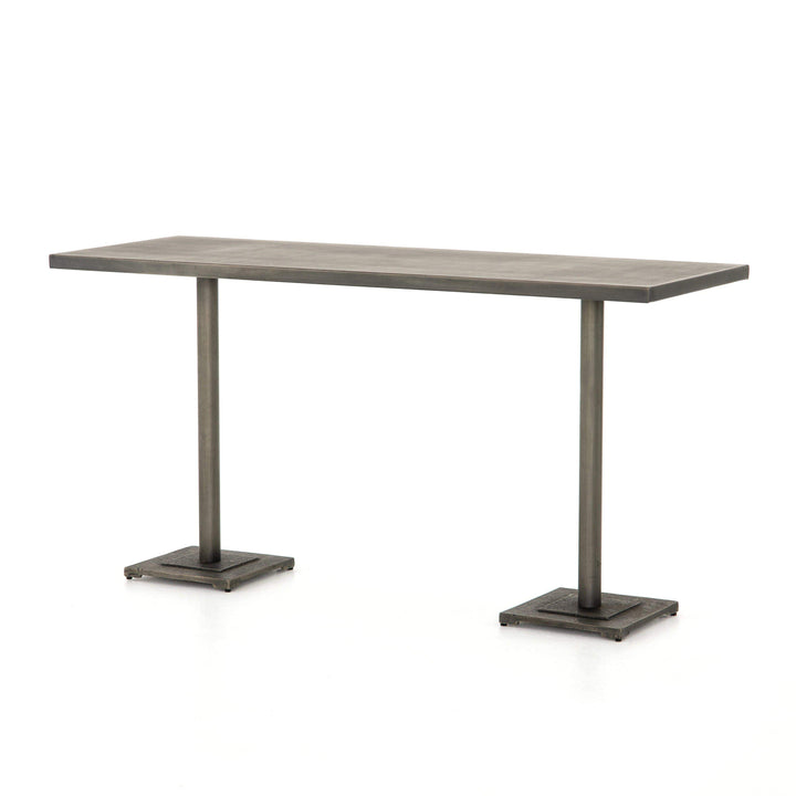 "Fannin Element Large Bar or Counter 70"" Table (Antique Nickel) - Parker Gwen"