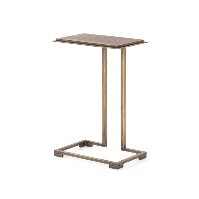 Acid Etch C Table (Antique Brass) - Element Collection - Parker Gwen