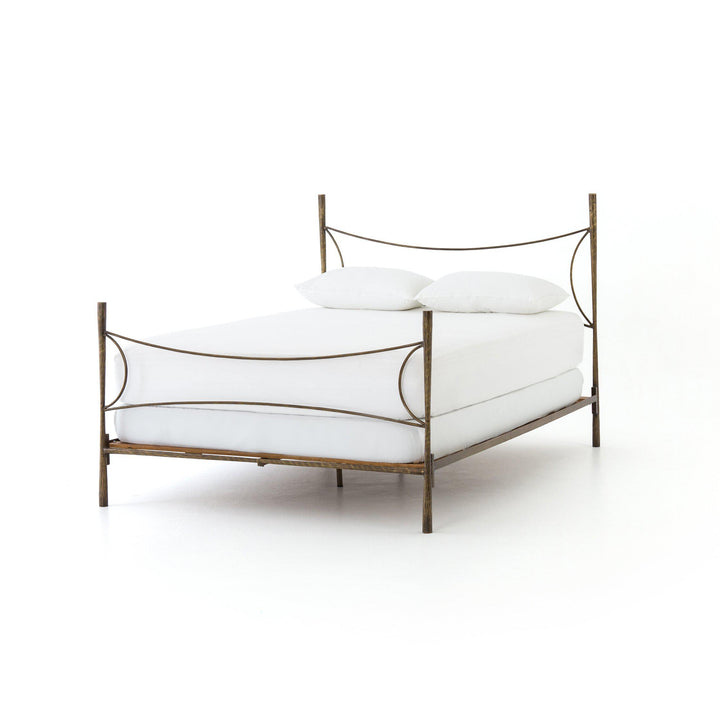 Westwood King Bed (Antique Brass) | Bed | parker-gwen