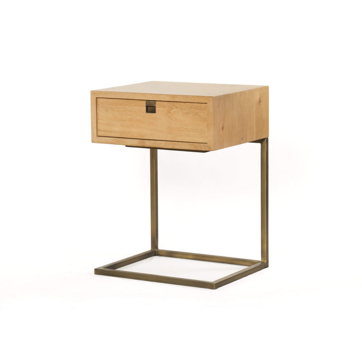 Carlisle Danish Natural Oak C-Shaped Nightstand - Parker Gwen