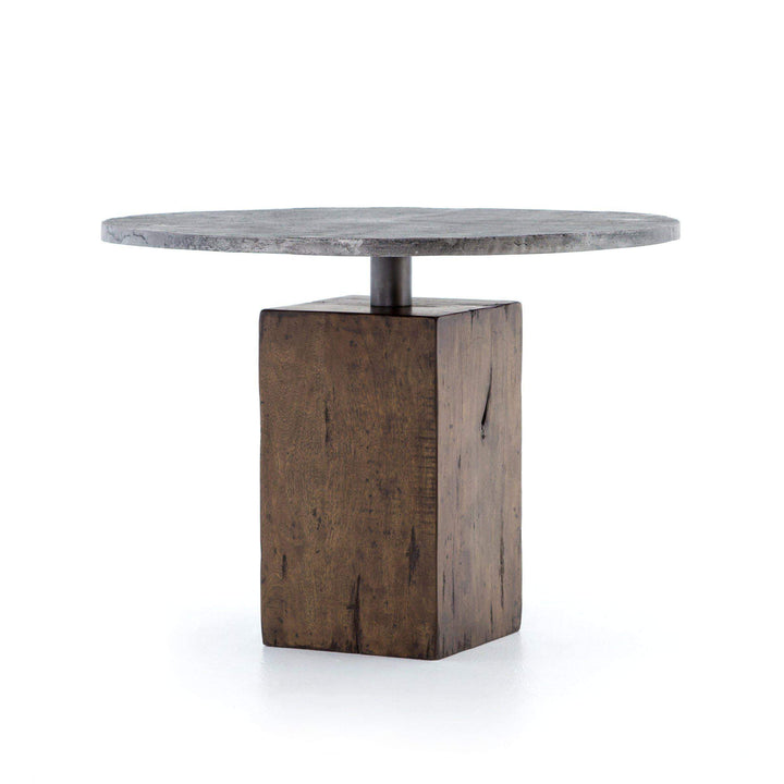 "Boomer 42"" Reclaimed Wood & Metal Bistro Table"