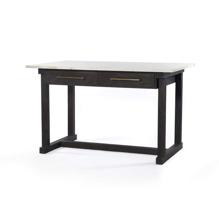 "Cayson 60"" Marble Top Counter Table - Harmon Collection"