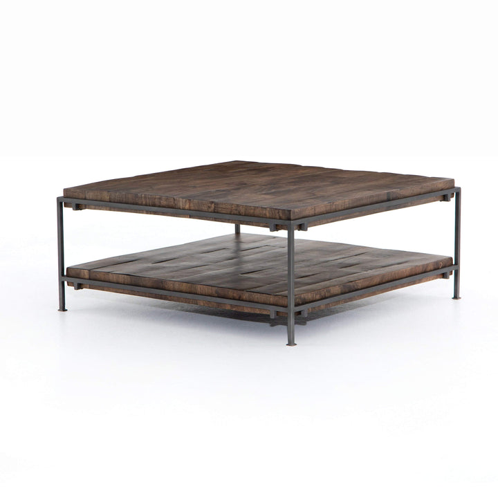 "Simein 38"" Square Coffee Table (Gunmetal) - Parker Gwen"