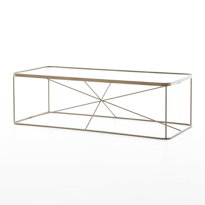 Lucas Antique Brass Coffee Table - Marlow Collection