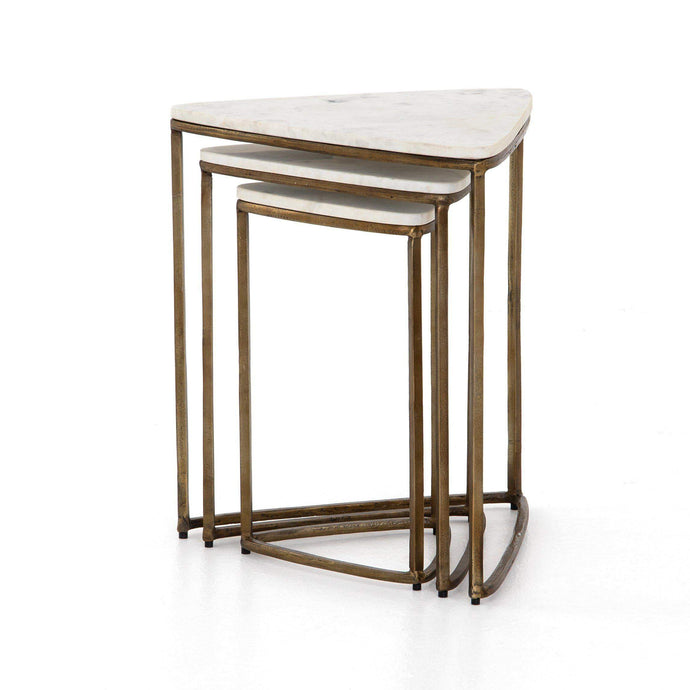 Raine Raw Brass End Table (Set of 3) - Parker Gwen