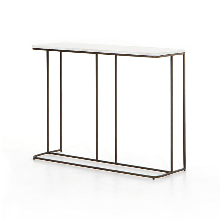Adalley Marble and Brass Console Table | Console Table | parker-gwen