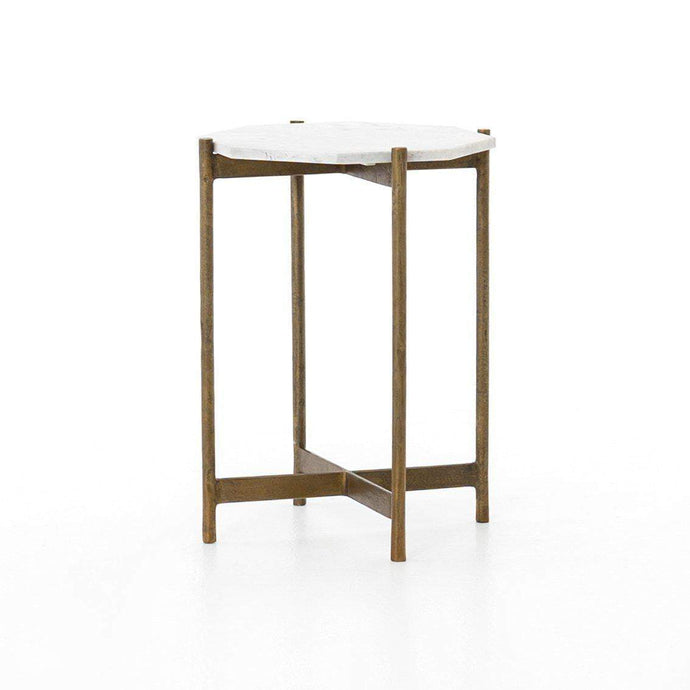 ADAIR SIDE TABLE (RAW BRASS) - Marlow Collection - Parker Gwen