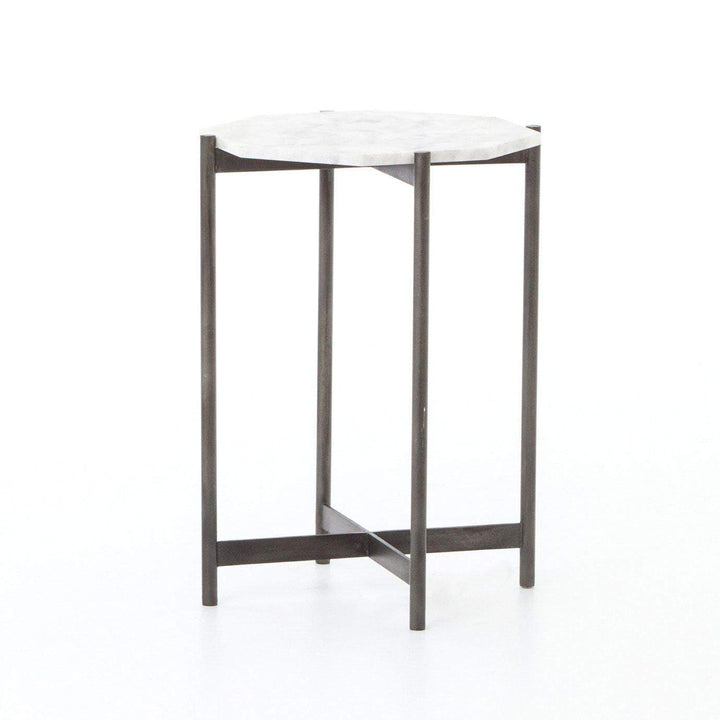 ADAIR SIDE TABLE (HAMMERED GREY) - Marlow Collection - Parker Gwen