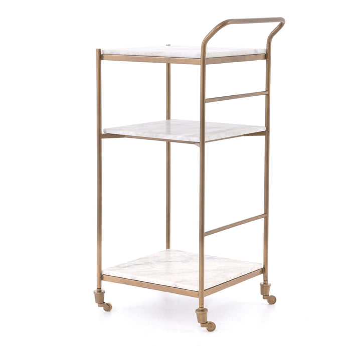 Felix Marble & Brass Bar Cart (Small) - Parker Gwen