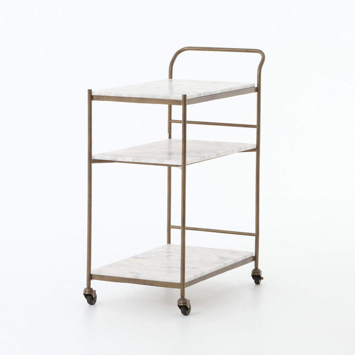 Felix Marble & Brass Bar Cart (Large)