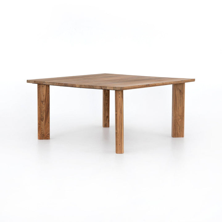 "Kimball 61"" Square Reclaimed Teak Dining Table 