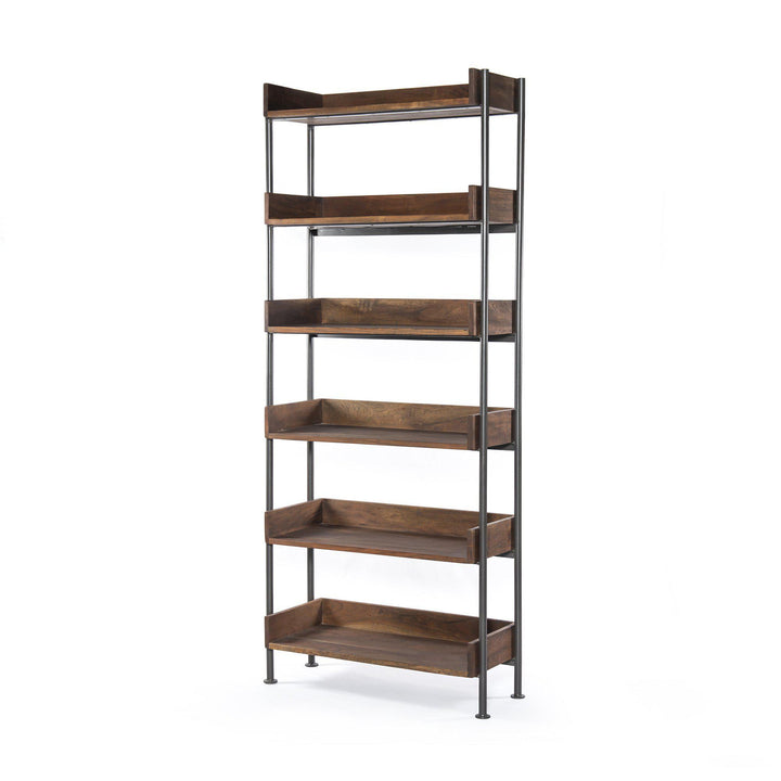 "River Wood & Iron 82"" Bookshelf 