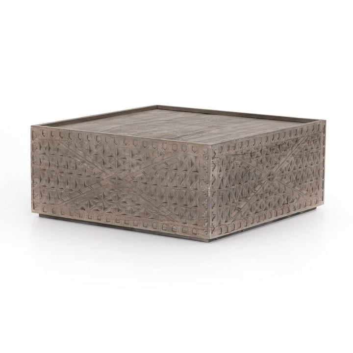 "Abby 38"" Square Coffee Table (Aged Grey) - Parker Gwen"