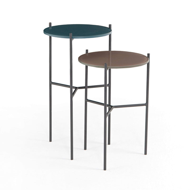 "Set of 2 Poppy 12"" End Tables (Slate Grey/Warm Taupe) - Parker Gwen"
