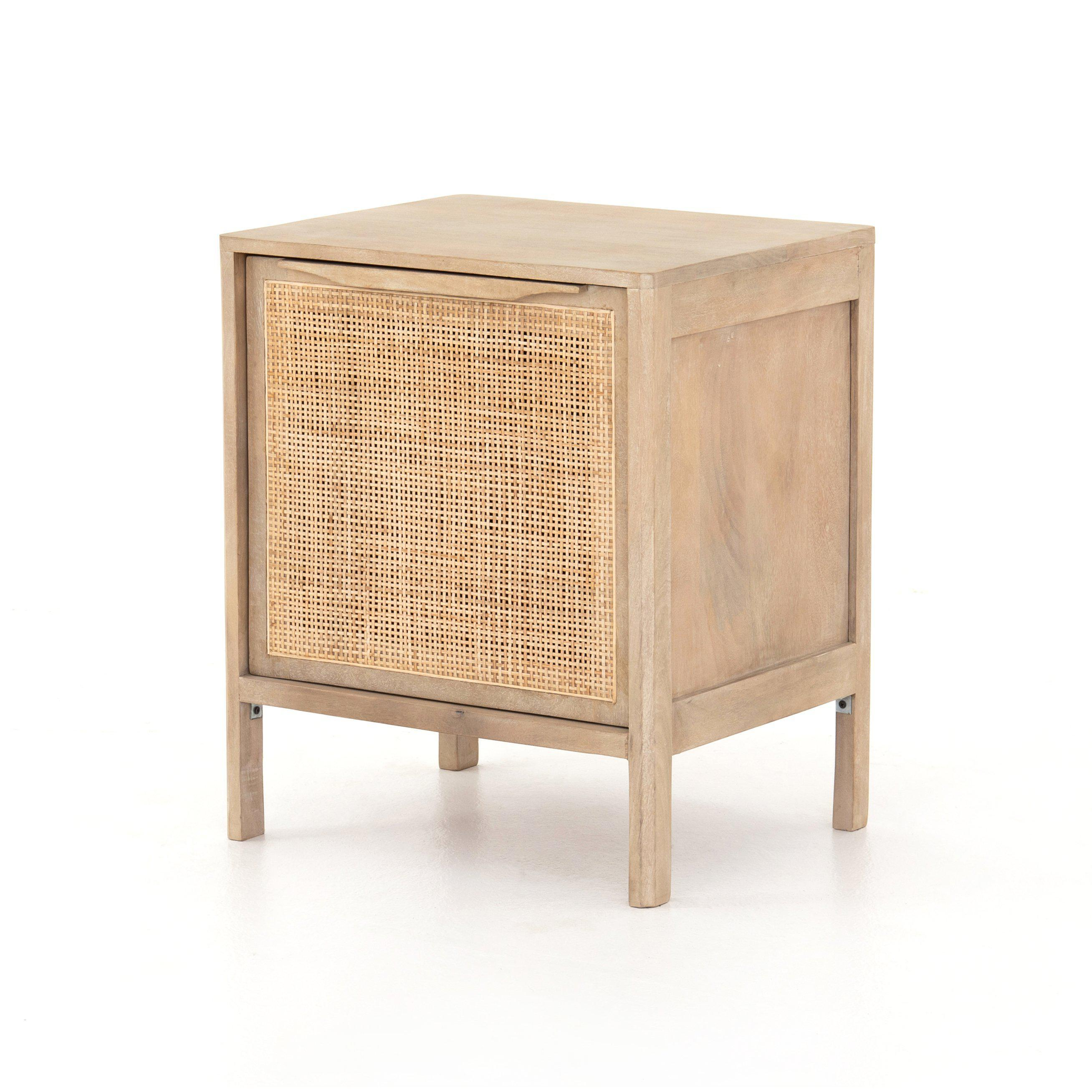 Sydney Woven Cane Nightstand (Natural) | Nightstand | parker-gwen