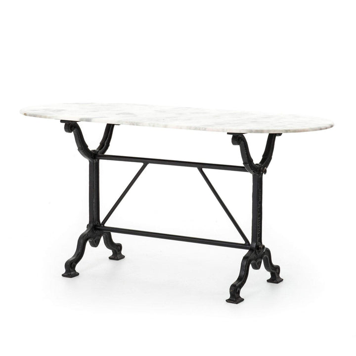 Ava Marble & Iron Writing Table - Rockwell Collection - Parker Gwen