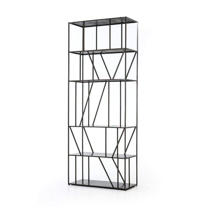 "Esme 82"" Iron Bookcase - Rockwell Collection"