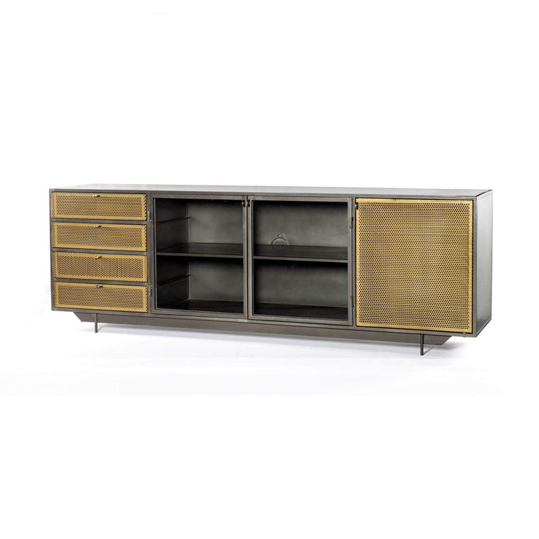 "Hendrick 83"" Media Console - Rockwell Collection - Parker Gwen"
