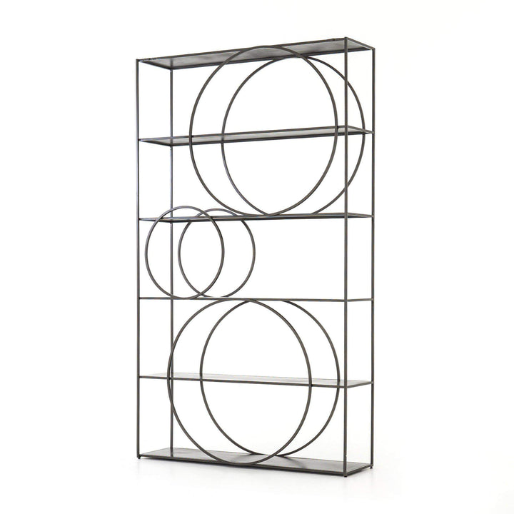 "Danielle 82"" Iron Bookshelf - Rockwell Collection - Parker Gwen"