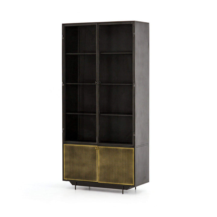 "Hendrick 82"" Iron Cabinet - Rockwell Collection - Parker Gwen"