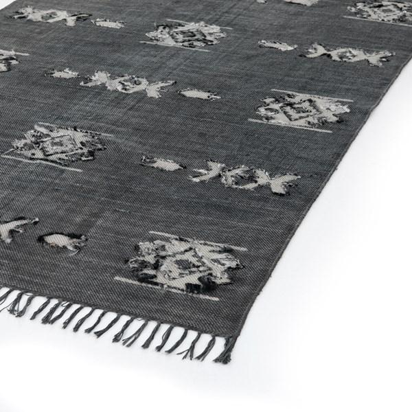 Tribal Faded Black Rug - Multiple Sizes & Runner