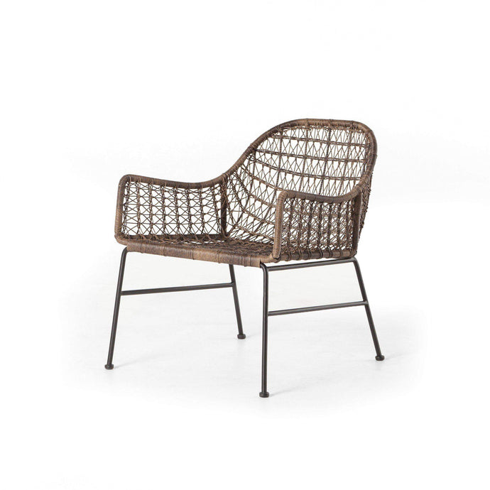 Bandera Outdoor Woven Club Chair (Distressed Grey)