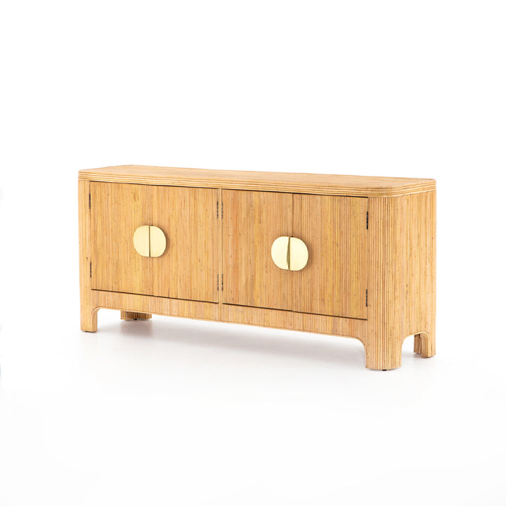 "Claire 72"" Honey Rattan Sideboard 