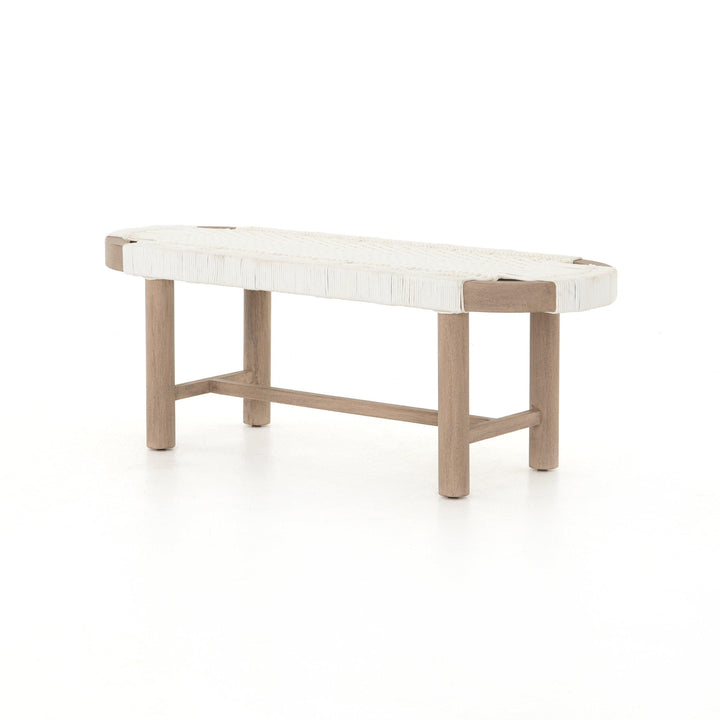 "Sumner 50"" Outdoor Bench (Washed Brown)"
