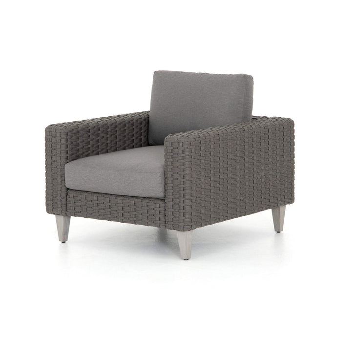 Remi Outdoor Rope Weave Chair (Charcoal) - Solano Collection