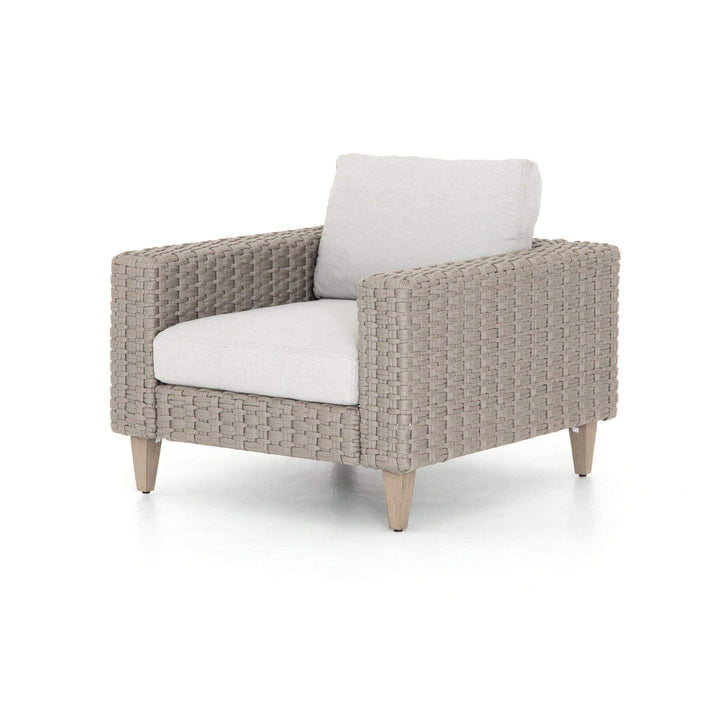 Remi Outdoor Rope Weave Chair (Stone Grey) - Solano Collection