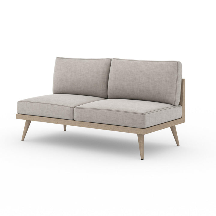 "Tilly 60"" Outdoor Sofa (Washed Brown/Stone Grey) 