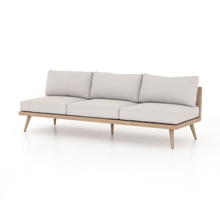 "Tilly 90"" Outdoor Sofa (Washed Brown & Stone Grey) 