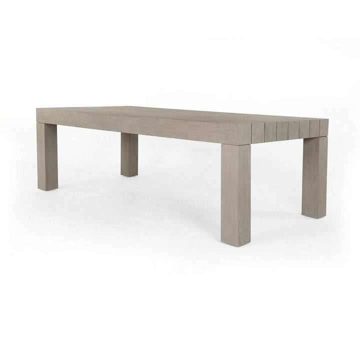 "Sonora 87"" Outdoor Dining Table (Weathered Grey)"