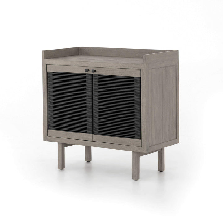 "Alma 35"" Small Outdoor Cabinet (Weathered Grey) - Parker Gwen"