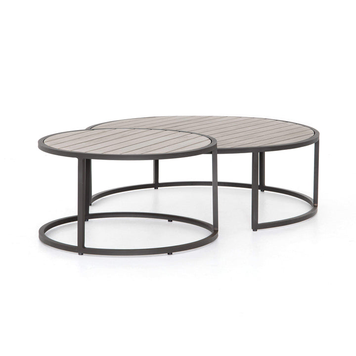Alda Outdoor Nesting Table (Weathered Grey)