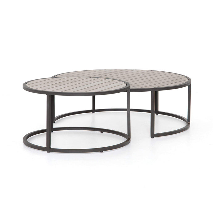Alda Outdoor Nesting Table (Weathered Grey) - Parker Gwen