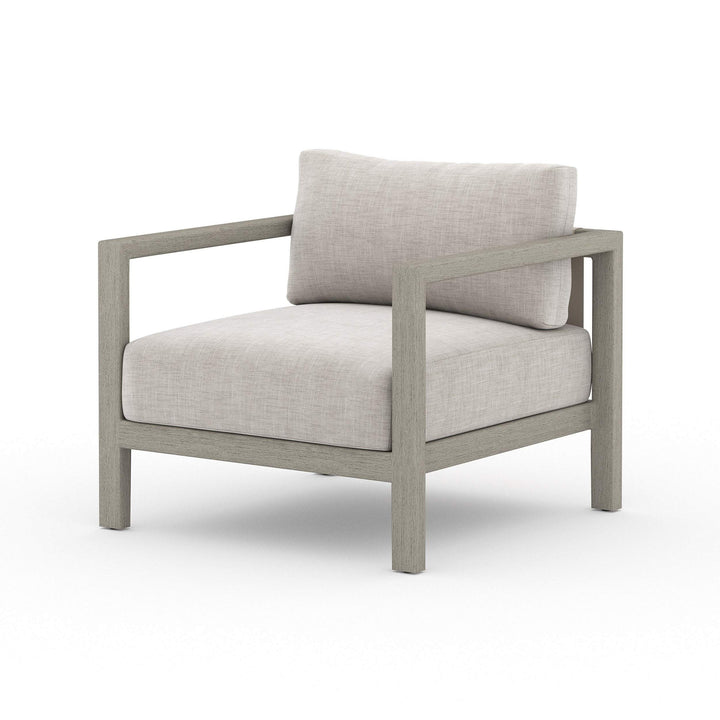 "Sonoma 25"" Outdoor Chair (Weathered Grey/Stone Grey) - Parker Gwen"