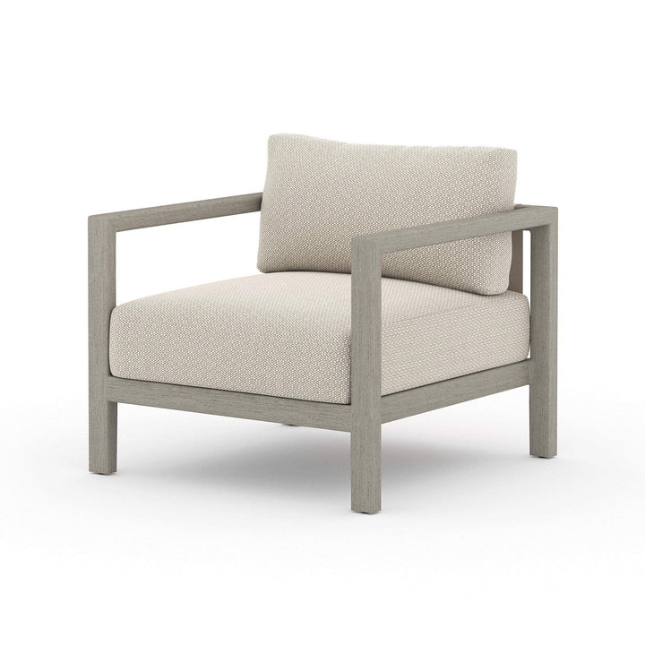 Sonoma Outdoor Lounge Chair (Weathered Grey & Sand) - Parker Gwen
