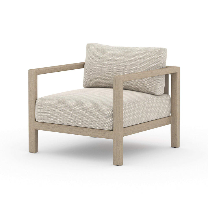 Sonoma Outdoor Lounge Chair (Washed Brown & Sand) - Parker Gwen