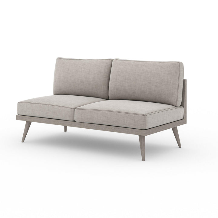 "Tilly 60"" Outdoor Sofa (Weathered Grey & Stone) 