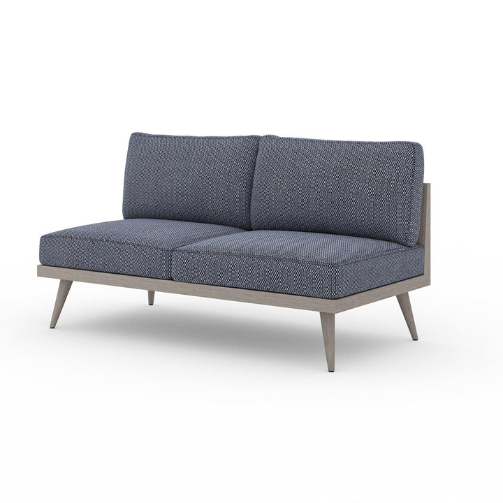 "Tilly 60"" Outdoor Sofa (Weathered Grey & Navy) 