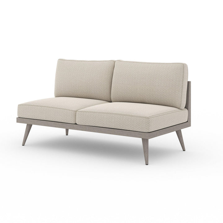 "Tilly 60"" Outdoor Sofa (Weathered Grey & Sand) 