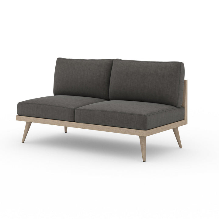 "Tilly 60"" Outdoor Sofa (Washed Brown & Charcoal) 