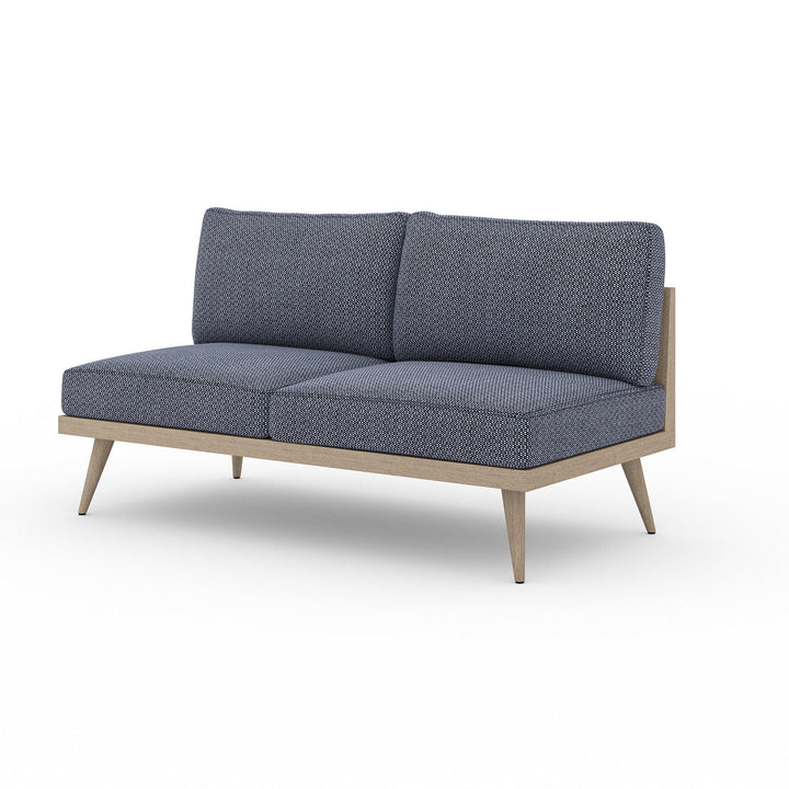 "Tilly 60"" Outdoor Sofa (Washed Brown & Navy) 