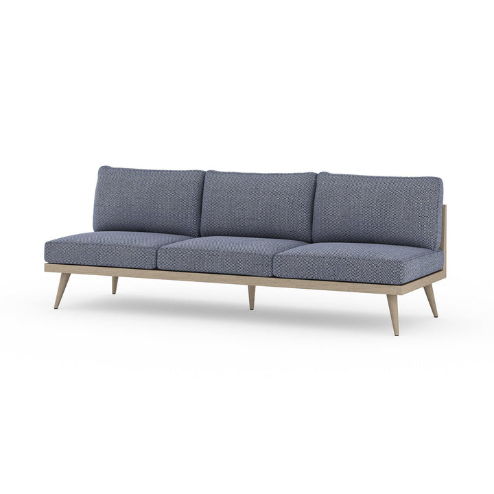 "Tilly 90"" Outdoor Sofa (Washed Brown & Navy) 