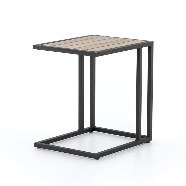 "Alda 18"" Outdoor C-Table (Washed Brown) - Parker Gwen"
